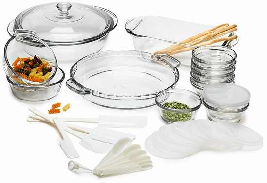 RICSB Anchor Hocking Glass 玻璃碗/烤盘14件套 5折 57.8加元限时特卖并包邮!