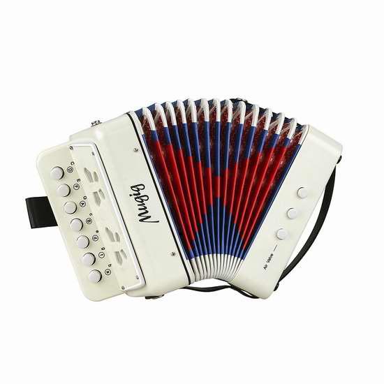 Mugig Button Accordion 七键儿童手风琴 29.74加元限量特卖!