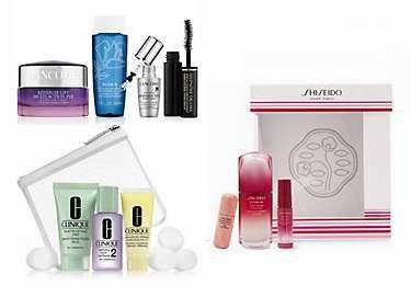 购买Shiseido、Lancome、Clinique、Versace超值装,送价值10加元积分!售价低至15加元!