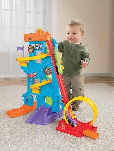 历史新低!Fisher-Price 费雪 Little People Loops 'n Swoops 游乐园玩具套装6..折 37.04加元包邮!