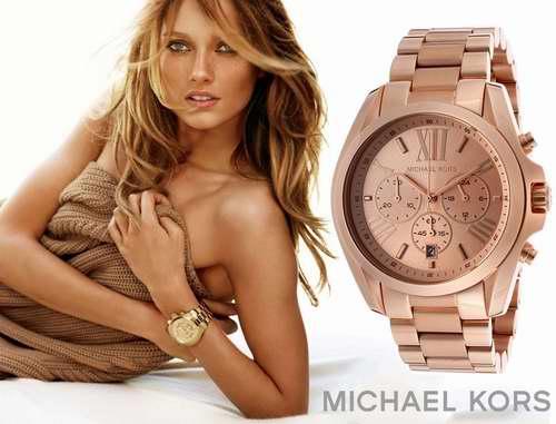 历史新低!Michael Kors MK5503 女士玫瑰金 三眼石英腕表/手表5.2折 173.71加元包邮!
