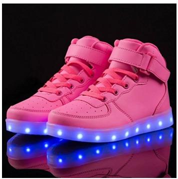 KEVENI 男童/女童 超酷充电LED七彩发光运动鞋 40.99加元包邮!7色可选!