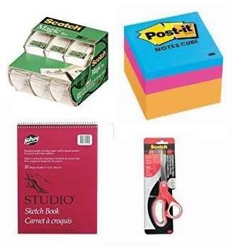 金盒头条:精选50款文具、办公用品、笔记本、剪贴簿、写生簿、剪刀等2.97加元起特卖!