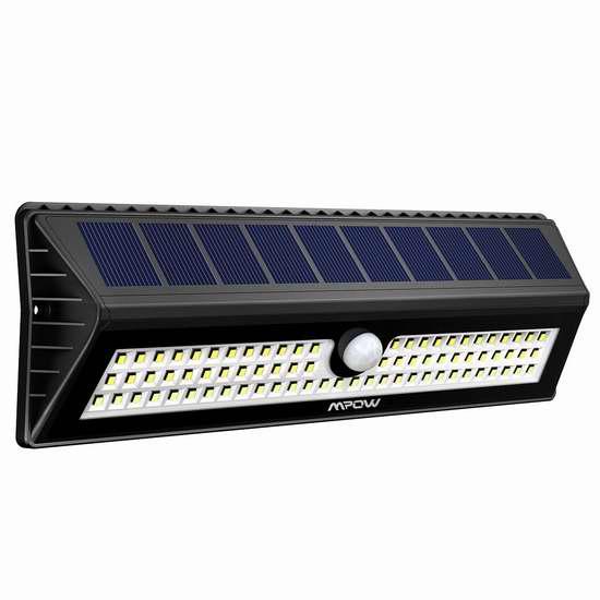 Mpow 77 LED 超亮太阳能防水运动感应灯 35.69加元限量特卖并包邮!