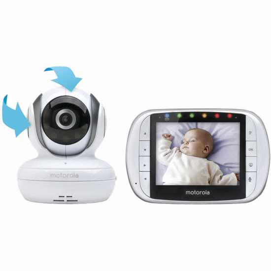 历史新低!Motorola MBP36S 远程婴儿/老人/宠物无线安抚监视器4.4折 109.99加元包邮!