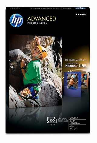 历史最低价!Hp 惠普 高级光面无边框 6寸照片打印纸100张 13.99加元!