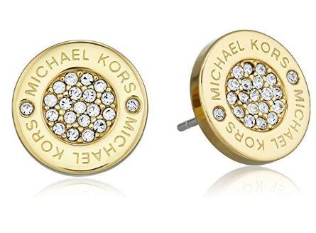 历史新低!Michael Kors Tone Logo 水晶耳钉4.4折 42.97加元包邮!