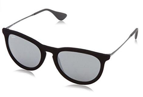历史新低!Ray-Ban 雷朋 Erika 男式黑色镜框太阳镜(54mm)5折 98.11加元包邮!