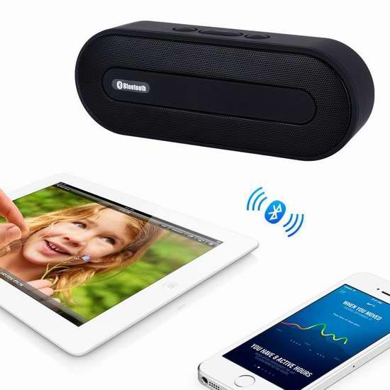 Tianlang 便携式无线蓝牙音箱3折 14.99加元限量特卖并包邮!