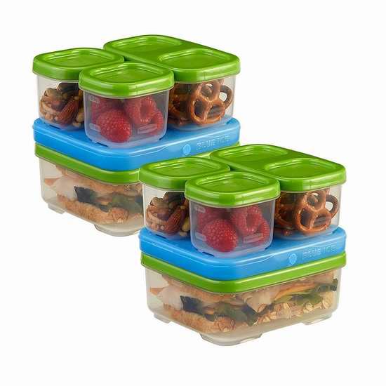 历史新低!Rubbermaid TakeAlongs 保鲜防漏午餐盒/保鲜盒超值套装5.4折 13.35加元!