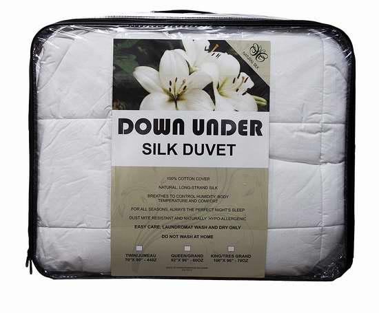 Down Under 可水洗 Oversize 天然蚕丝被(Twin/Queen/King) 109.99-184.99加元限量特卖并包邮!