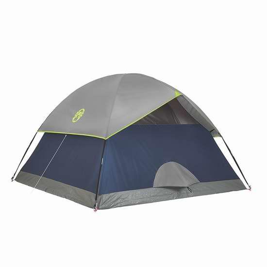 近史低价!Coleman Sundome 4人 野营帐篷 55.96加元包邮!