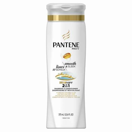 销量冠军!Pantene 潘婷 Pro-V 丝质顺滑 洗护二合一洗发水(375ml) 2.5加元!