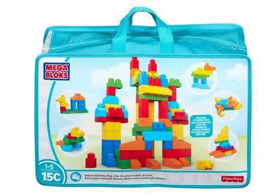 Mega Bloks 豪华大号积木150件套5.1折 20加元!