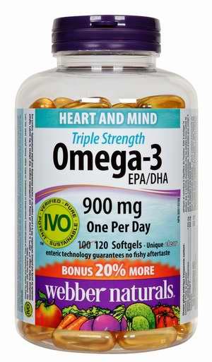 Webber Naturals 三倍强效 Omega-3 鱼油(120粒) 16.43加元!