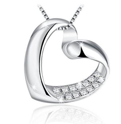 J.Rosée 心形水晶镶钻 锁骨项链1.8折 18.01加元限量特卖并包邮!
