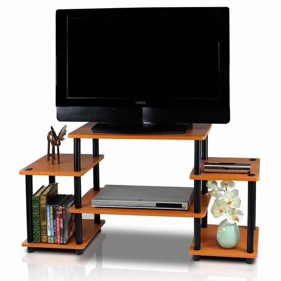 历史新低!FURINNO 11257LC/BK 多用途收纳架/电视柜 45.97加元包邮!