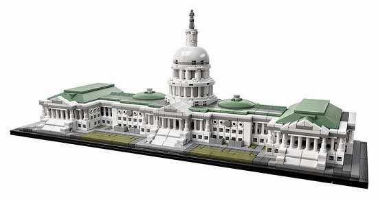 LEGO 乐高 Architecture 21030 美国国会大厦(1032pcs)7.2折 92.98加元包邮!