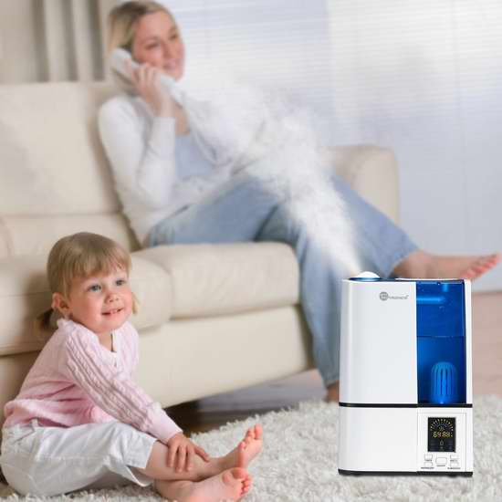 TaoTronics TT-AH001 零噪音超声波冷雾加湿器3.8折 53.99加元包邮!