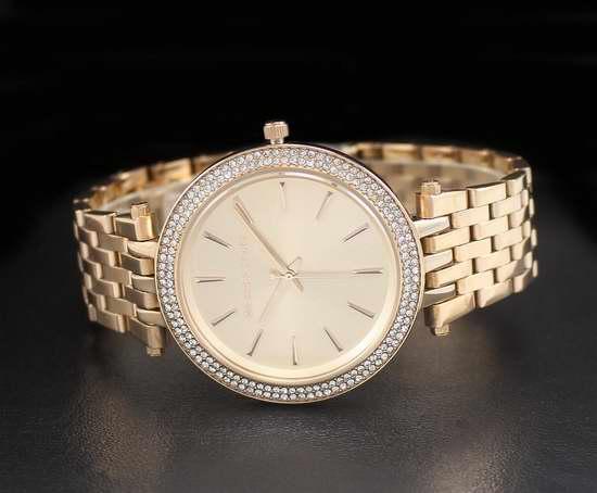 近史低价!Michael Kors MK3192 Darci 女士玫瑰金水晶腕表/手表5折 150.33加元清仓并包邮!