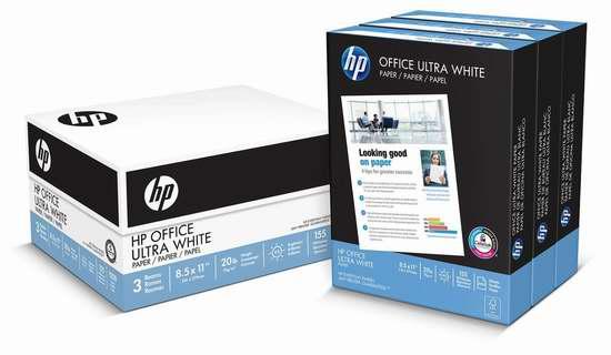 历史新低!HP Everyday 1500张打印复印多用途纸 16.99加元!
