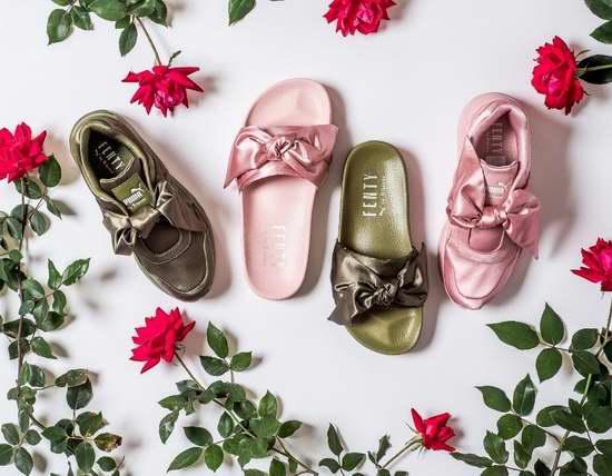 Rihanna x PUMA 联名款 FENTY 春夏系列大促!蝴蝶结拖鞋、系带鞋、蝴蝶结鞋、服饰、配饰等全面3折!