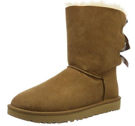 手慢无!UGG Bailey Bow II 女士雪地靴 141.55加元(7码),原价 266.5加元,另有黑色款码全