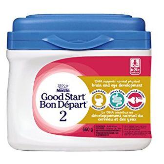 NESTLÉ GOOD START 2 含DHA&ARA益生菌配方奶粉 25.62加元(660 g )+包邮!