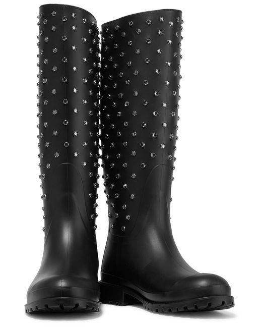雨靴也能演绎尖端时尚!SAINT LAURENT 经典时尚节日雨靴 419.14加元(2色),原价 913.19加元
