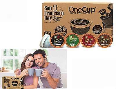 San Francisco Bay 31101 4口味K-Cup咖啡胶囊80粒超值装5.1折 25.91-27.27加元!