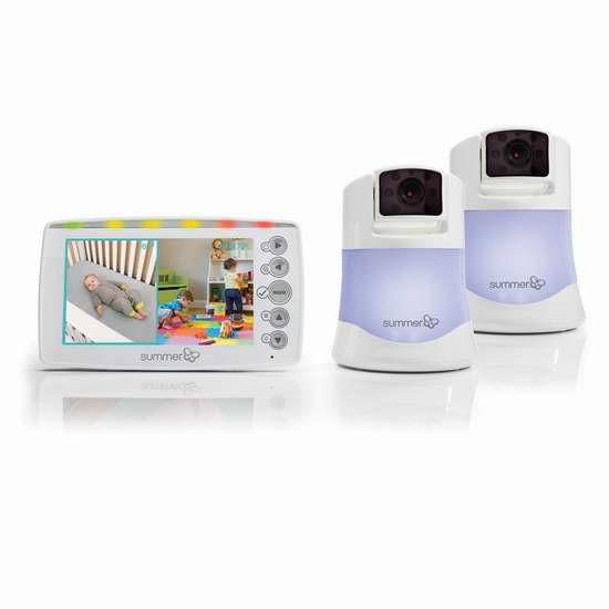 金盒头条:历史新低!Summer Infant 29623 双摄像头 婴儿分屏监控器5.7折 199.99加元包邮!