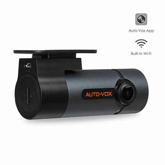 升级专业版 AUTO-VOX D6 Pro WiFi 300°旋转 全高清超级夜视行车记录仪 90.99加元限量特卖!