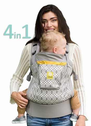 金盒头条:历史新低!LILLEbaby ESSENTIALS系列 4合1宝宝背带 97.5加元包邮!8色可选!