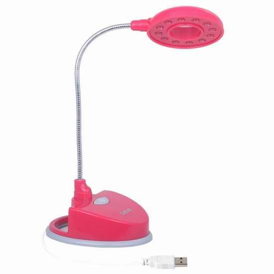 Daffodil LEC150 USB LED便携式台灯/键盘灯 6.75加元!