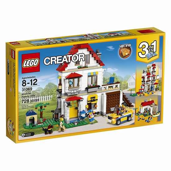 LEGO 乐高 31069 创意系列 三合一家庭别墅(728pcs)7.8折 69.97加元包邮!