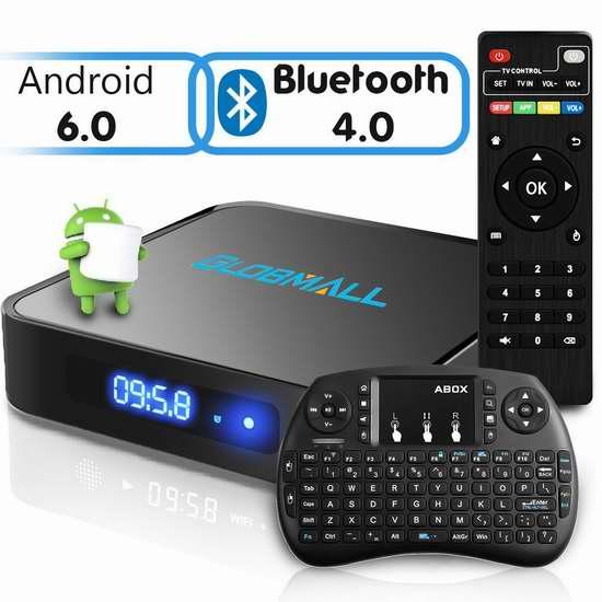 Globmall X1 流媒体播放器/网络电视机顶盒+无线迷你键盘 59.49加元限量特卖并包邮!