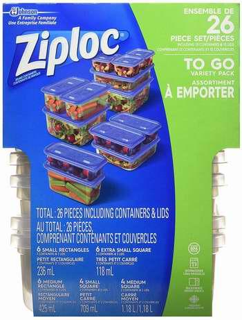历史新低!Ziploc 食物保鲜盒26件套 7.47-7.97加元!