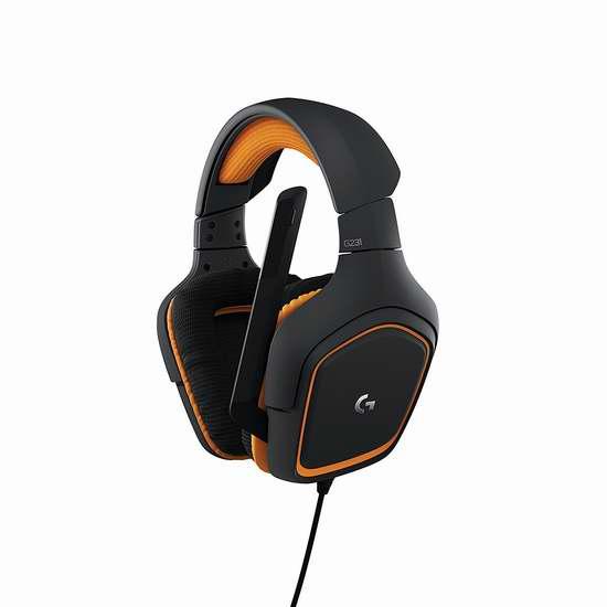 历史新低!Logitech 罗技 G231 Prodigy 游戏耳机5折 49.75加元包邮!