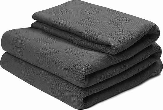 销量冠军!Utopia Bedding Twin/Queen/King 纯棉毛巾被2.2折 21.99-29.99加元!两色可选!