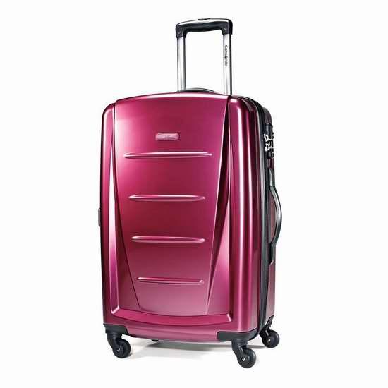 Samsonite 新秀丽 Winfield 2 24寸玫瑰红全PC硬壳拉杆行李箱 96.45加元包邮!