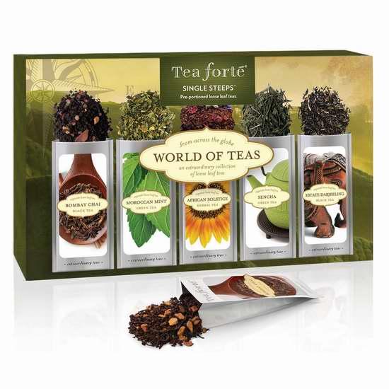 Tea Forte 绿茶+红茶+凉茶 15袋套装 16加元限量特卖!
