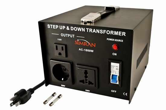 历史新低!Simran AC-1000 1000瓦(110-220v)双向变压器 63.45加元包邮!
