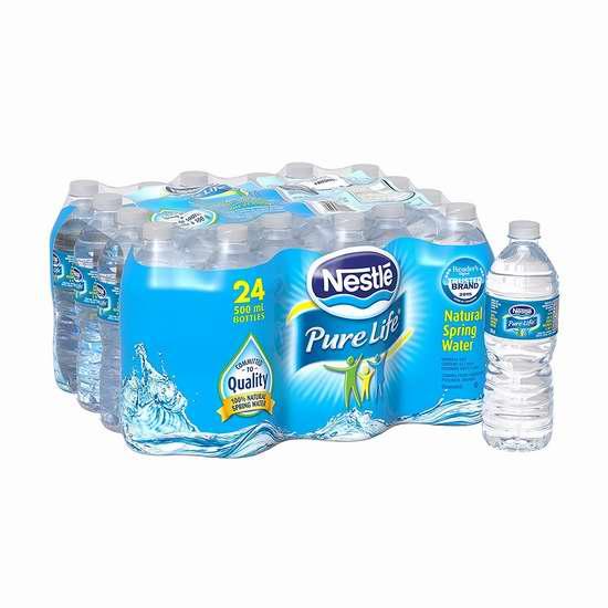 Nestle 雀巢 Pure Life 纯天然矿泉水(24x500ml)5折 2.99加元!