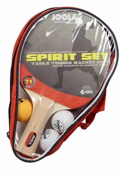 历史新低!JOOLA 54833 Spirit 娱乐级乒乓球拍套装(2球拍+3球)5.8折 18.99加元!