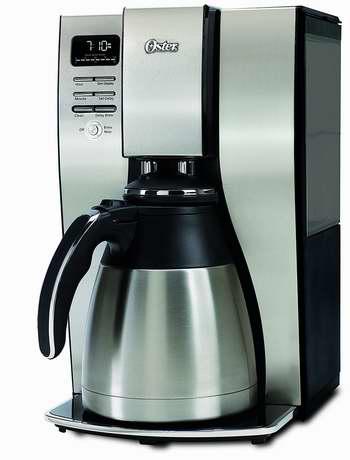 近史低价!Oster BVSTPSTX95-033 10杯量 不锈钢保温智能咖啡机 69.99加元包邮!