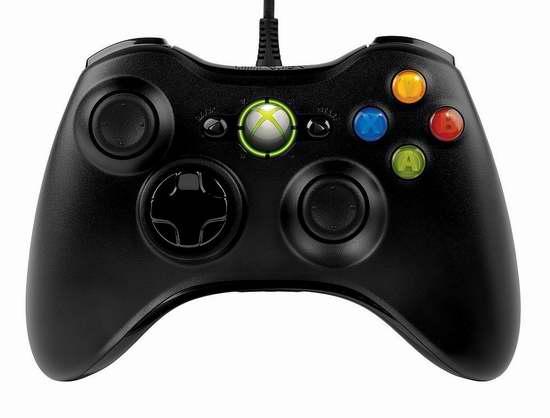 金盒头条:Microsoft Xbox 360 PC机专用游戏手柄6折 26.98加元!