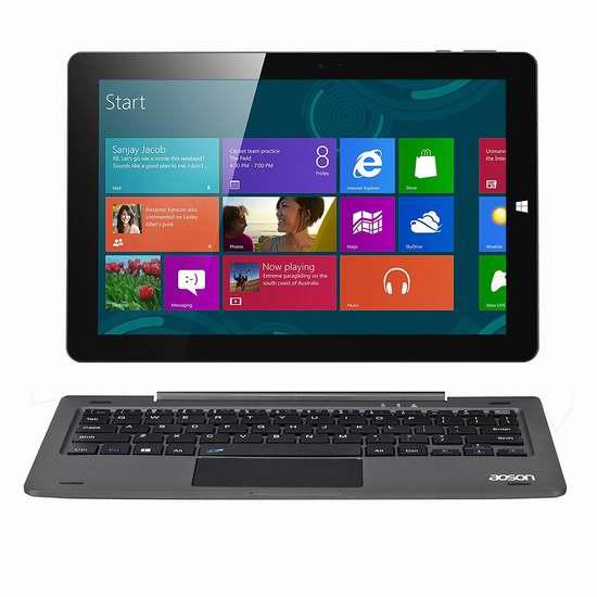 AOSON R106 10.1寸二合一触控屏平板电脑/笔记本(4GB/64GB) 224.4加元限量特卖并包邮!