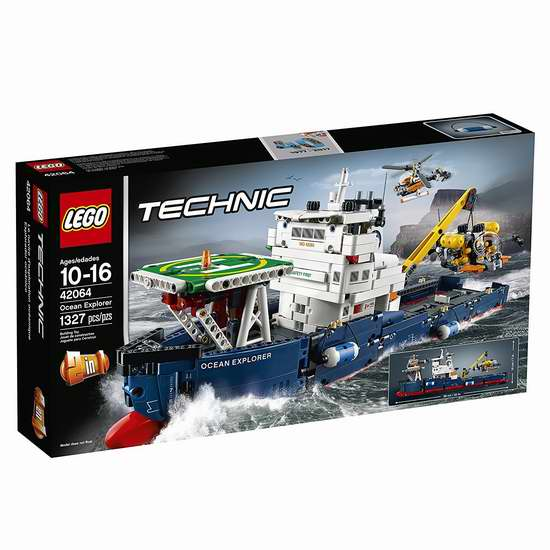 新品促销,史低价!LEGO 乐高 42064 科技组 海洋探险船(1327 pcs)7.7折 114.99加元包邮!