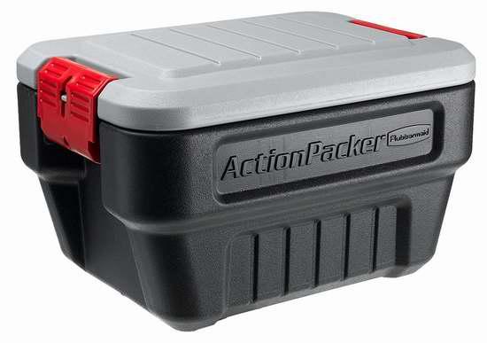 接近史低价!Rubbermaid ActionPacker 室内/户外 8加仑可锁定防水防尘储物箱3.8折 37.68加元包邮!