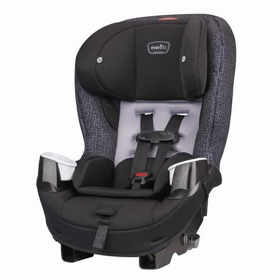 历史新低!Evenflo Stratos 65 成长型儿童汽车安全座椅 135加元包邮!